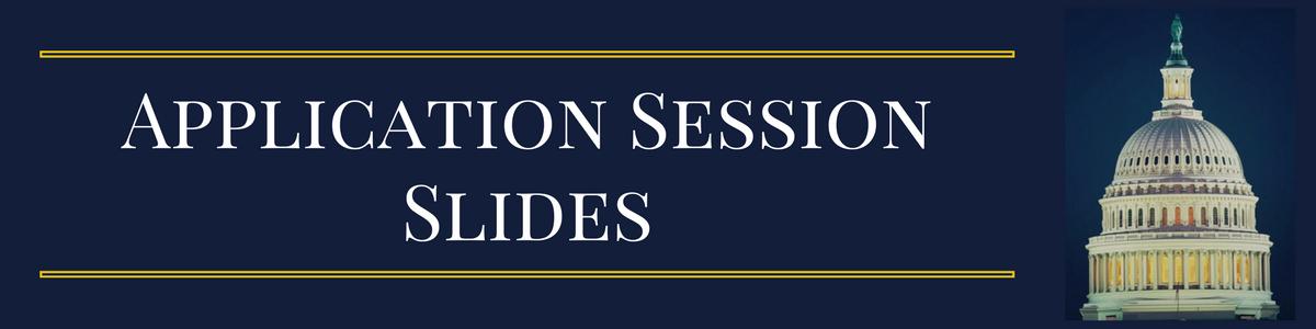 Application Session Slides